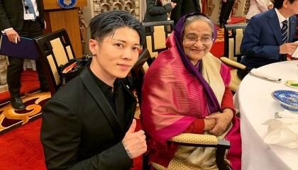 Japanese Actor Miyavi Feels Honoured To Meet Sheikh Hasina 2019 06 01