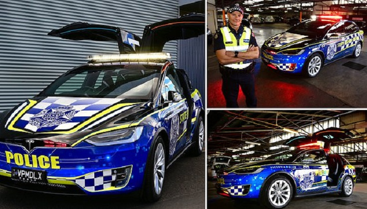 Australia's 1st all-electric police car hits the road