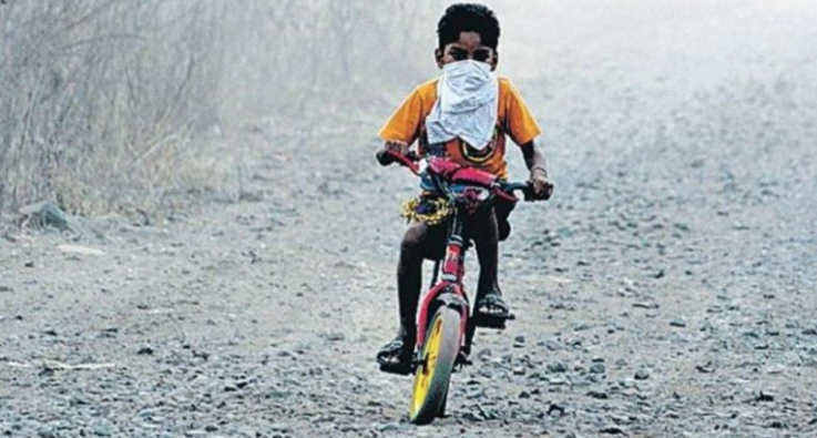 Polluted air affects children's lungs