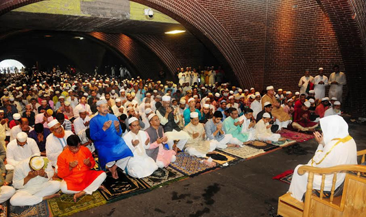 Eid jamaat held at Jatiya Sangsad