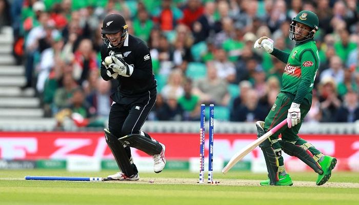 Bangladesh batting against New Zealand