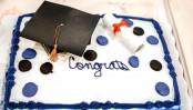 Family discovers graduation cake made of plastic foam