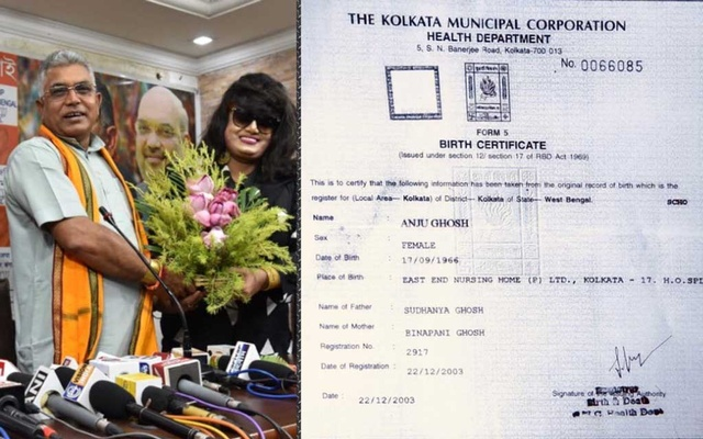 BJP produces birth certificate of Anju Ghosh amid clamour