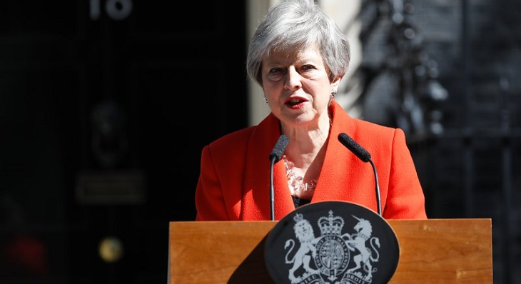 Theresa May quits as party leader, triggers race for successor