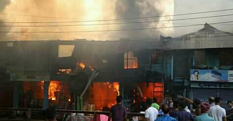 50 shops gutted in Noakhali fire