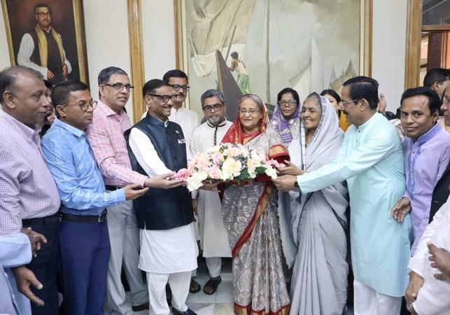 Prime Minister Sheikh Hasina returns home