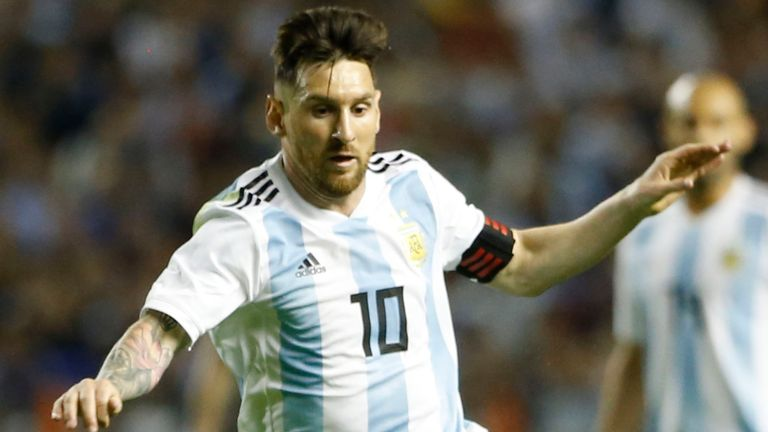 Messi scores twice as Argentina routs Nicaragua 5-1