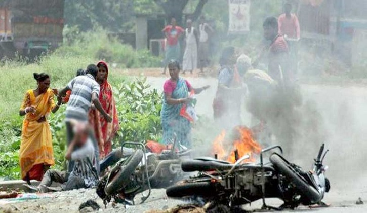 BJP-Trinamool clash over removing party flags leaves four dead in West Bengal