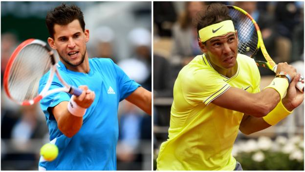 Rafael Nadal faces Dominic Thiem in French Open final