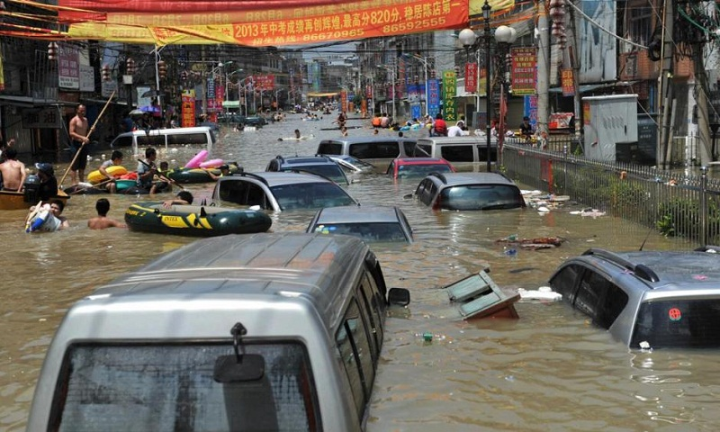 6 dead in storms and floods in southeastern China