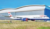 British Airways'  1st A350 emerges  from paint shop