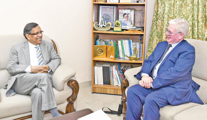 Eamon Gilmore met Law Minister Anisul Huq