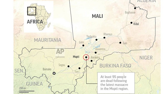 95 dead in new ethnic massacre in central Mali: Officials