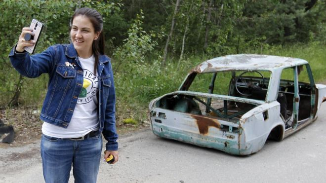 Chernobyl selfies lead to warning from show's writer