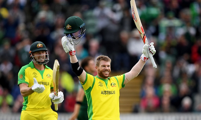 Warner's 15th ODI century powers Australia to a big total
