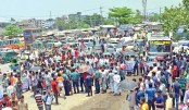 Fishermen block roads again protesting ban on catching fishes