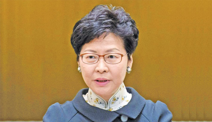 Extradition law protests an 'organised riot': HK leader