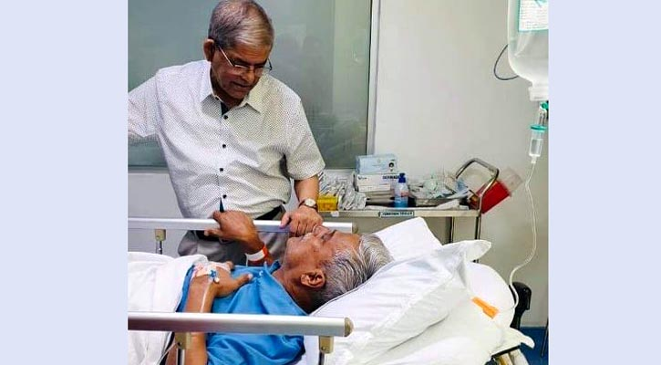 Farukh hospitalised, Fakhrul visits the ailing BNP leader