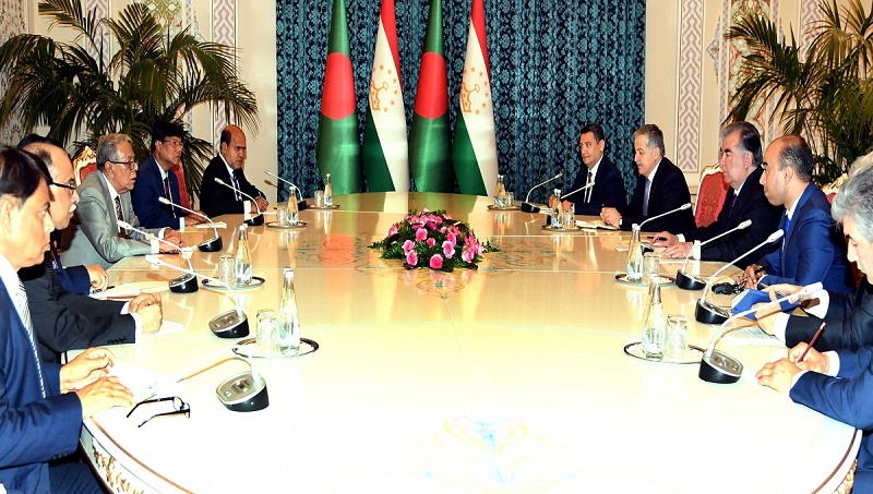 President seeks Tajikistan's support to end Rohingya crisis