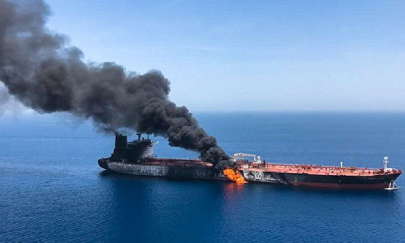 Trump blames Iran in tanker blasts, says sea lane not at risk