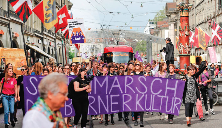 Swiss women stage strike for long-delayed equality
