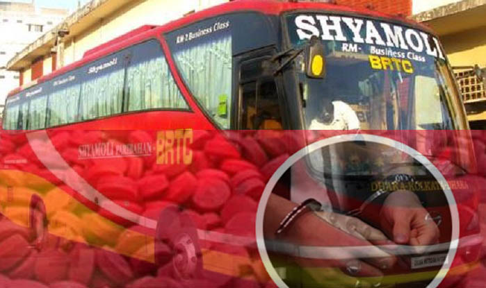 Shyamoli bus driver held with 10,000 yaba pills