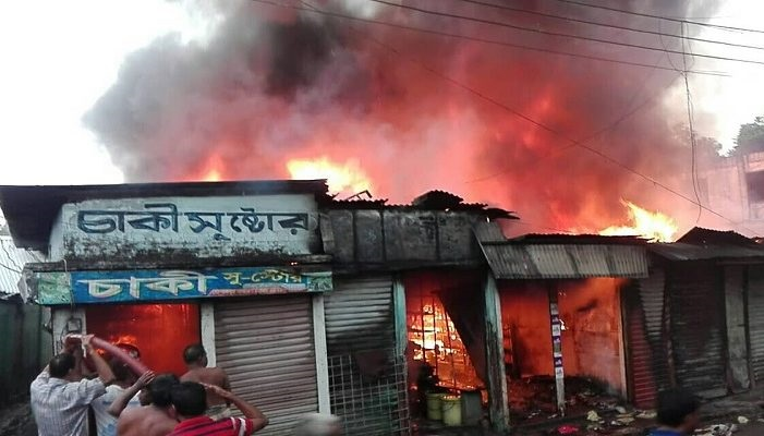8 shops gutted in Tangail fire