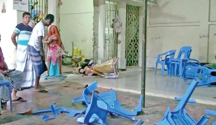 Miscreants vandalised idols of Hindu goddess