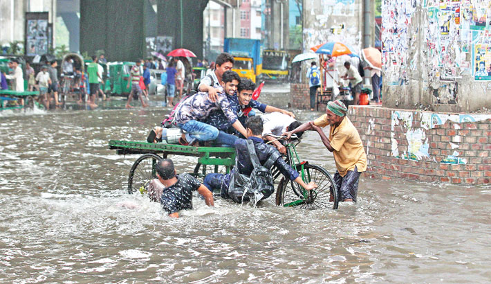 Waterlogging causes sufferings in Ctg