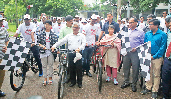 Cycle rally marks Gandhi's 150th birth anniv