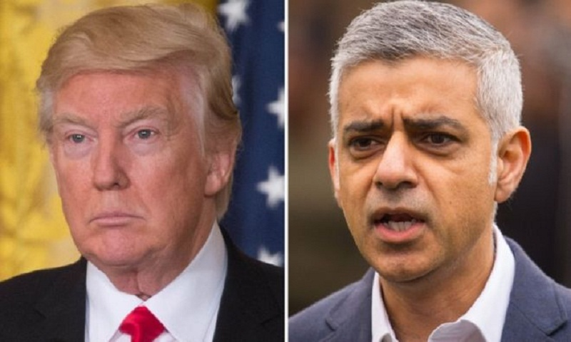 Donald Trump hits out again at Sadiq Khan over London violence