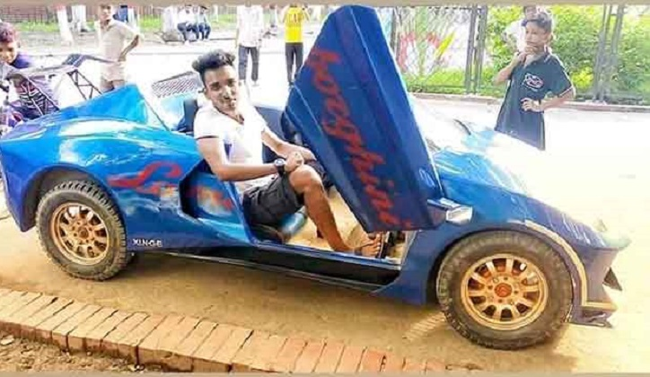 Narayanganj youth builds gorgeous electric car from scratch