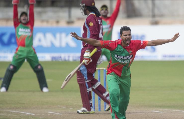 Bangladesh win toss, opt to bowl first against West Indies