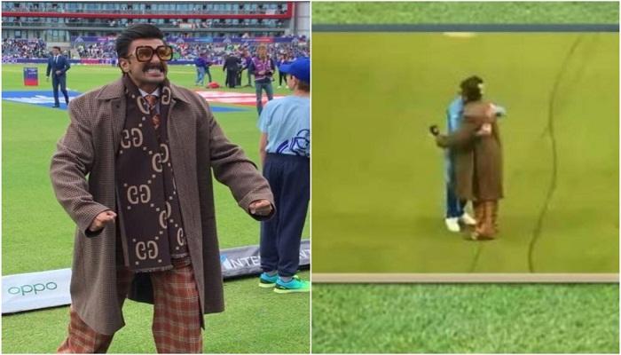 Ranveer Singh hugs Virat Kohli post India's World Cup victory against Pakistan
