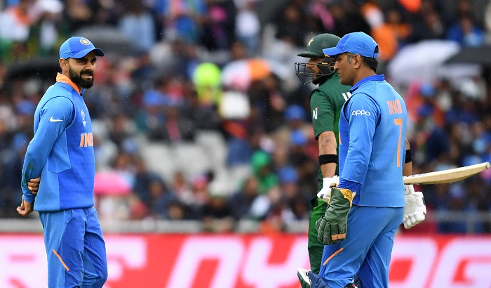 Rain halts again India-Pakistan match