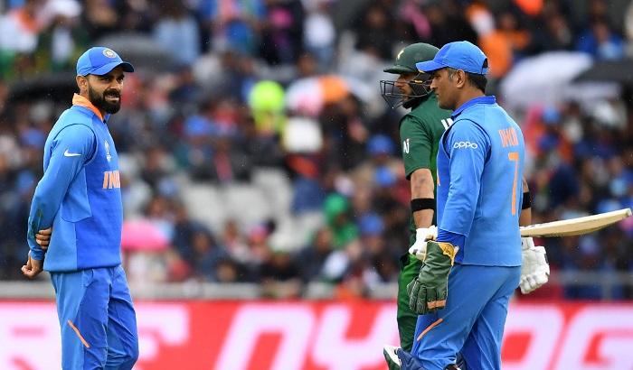 Rain halts again India-Pakistan match