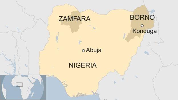 Nigeria suicide blast kills 30 at video hall in Borno