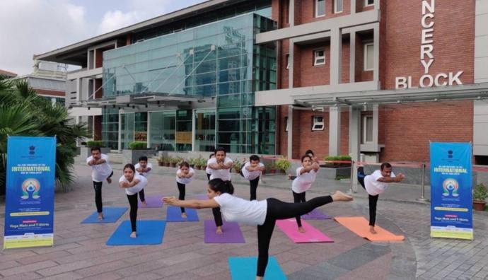 Yoga Day celebrations at Bangabandhu Stadium Friday