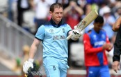 England's Morgan hits world record 17 sixes in an ODI innings