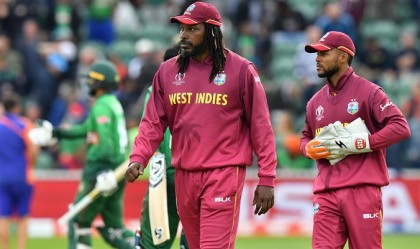 Shakib stars as Tigers rout Windies with 2nd highest World Cup chase