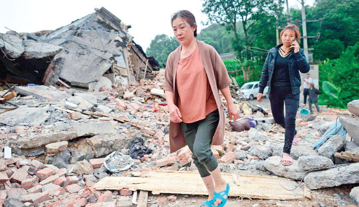 China quake kills 12