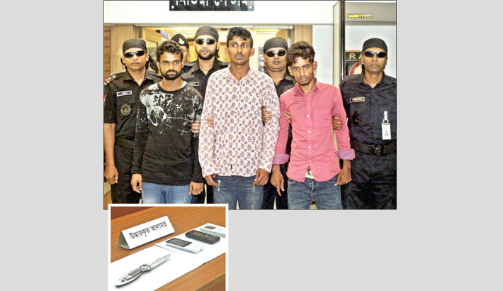 RAB members produce three members of an organised gang of smugglers