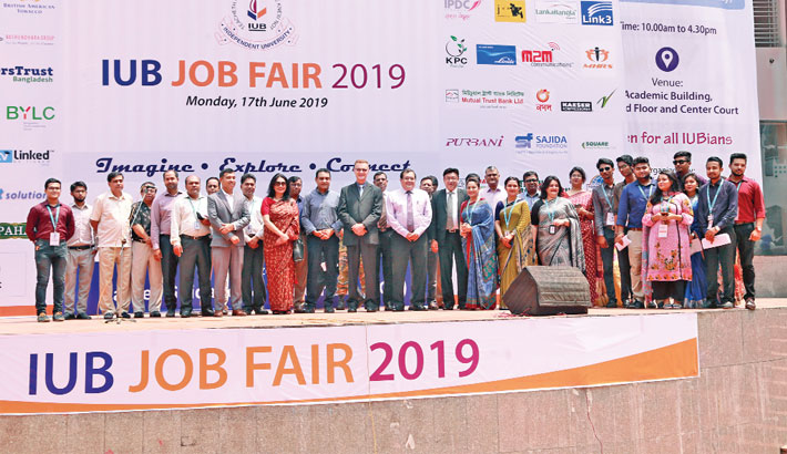 Bashundhara Group participates in IUB job fair