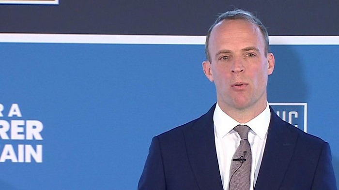 Dominic Raab out of Tory leadership race