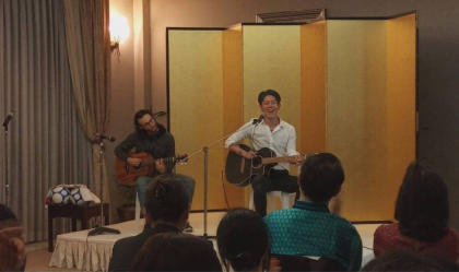 Japan promotes peace through sport, music