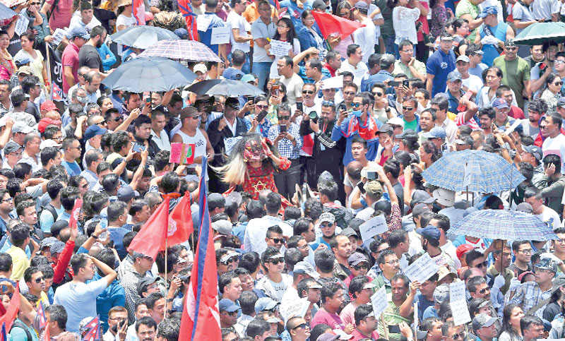 Thousands protest against bid to scrap Nepal cultural 'guthi' bill
