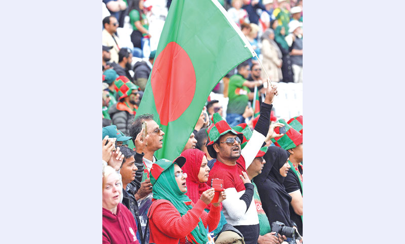 Bangladesh fans cheer during the 2019 Cricket World Cup