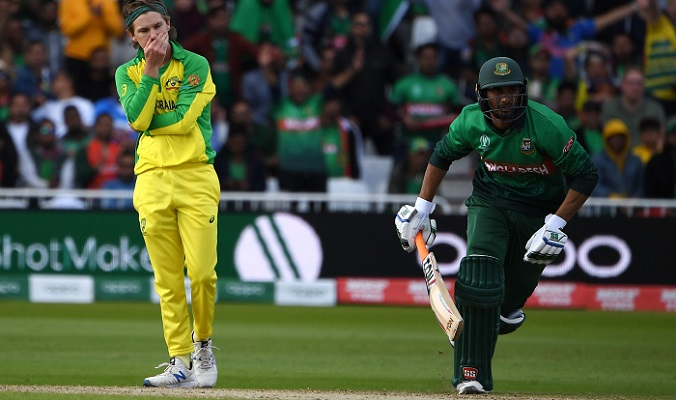 Australia beat Bangladesh by 48 runs in Cricket World Cup