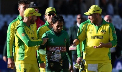 Australia reach top of World Cup table beating Bangladesh