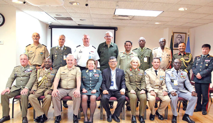 UN Peacekeeping Missions Force Commanders visit Bangladesh Permanent Mission